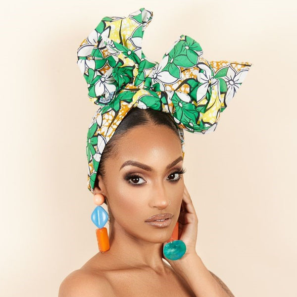 Nadege Headwrap - Grass Fields