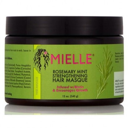Masque Capillaire Fortifiant au Romarin & Menthe - ROSEMARY MINT - MIELLE ORGANICS