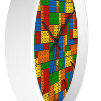 Building Blocks Multicolored Wall Clock - Classic Lines - Not Bad Gifts