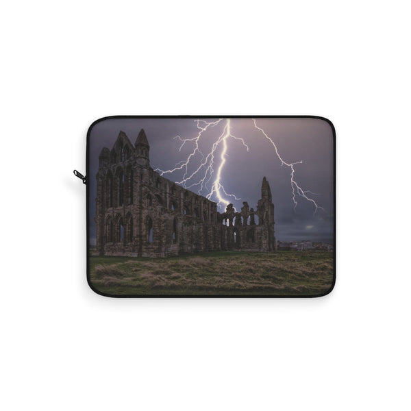 Whitby Abbey Lightning Strike Laptop Sleeve - Not Bad Gifts