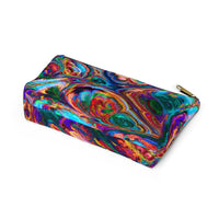 Rainbow Swirls Accessory Pouch w T-bottom - Not Bad Gifts