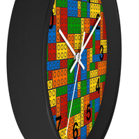 Building Blocks Multicolored Wall Clock - Classic Numbers - Not Bad Gifts