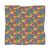 Building Blocks Multicolored Poly Scarf - Not Bad Gifts
