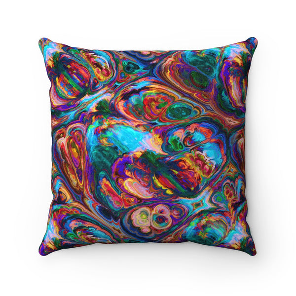 Rainbow Geode Suede Square Pillow Case - Not Bad Gifts