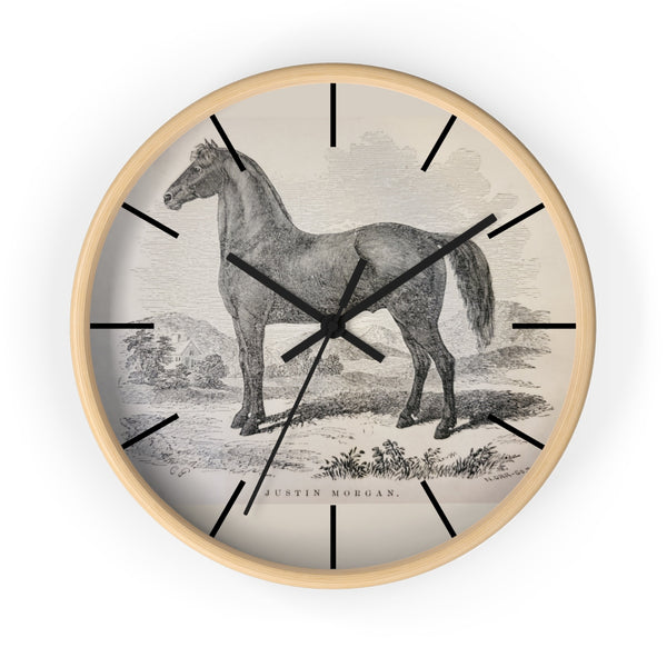 Justin Morgan Horse - Figure - Wall Clock - Not Bad Gifts