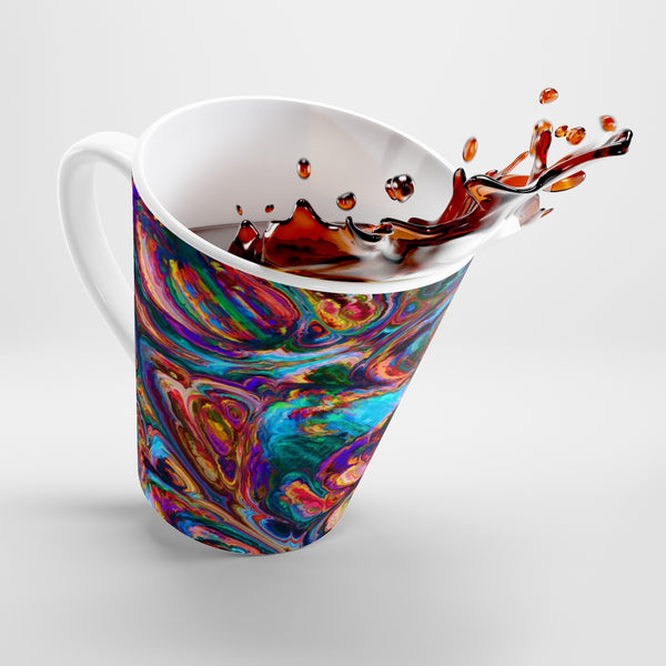 Rainbow Geode Latte Mug - Not Bad Gifts