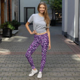 Purple Camo Leggings - Pants for Women - Not Bad Gifts