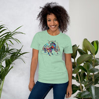 Unicorn Rainbow Colorful Short-Sleeve Unisex T-Shirt - Not Bad Gifts