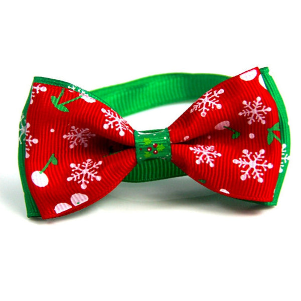 Christmas Holiday Pet Cat Dog Collar Bow Tie Adjustable Neck Strap Cat Dog Grooming Accessories Pet Product Supplies Christmas - Not Bad Gifts