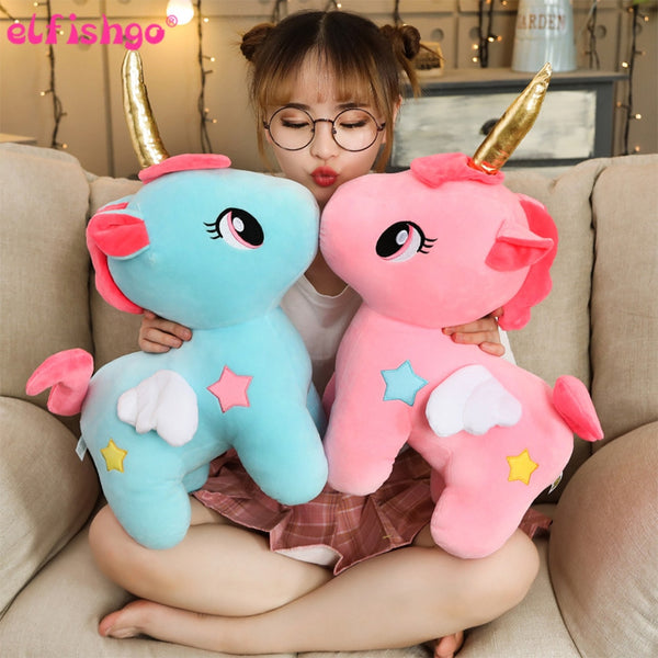 Soft Unicorn Plush Toy Baby Kids Appease Sleeping Pillow Doll Animal Stuffed Plush Toy Birthday Gifts for Girls Children - Not Bad Gifts
