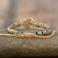Tree Charm Bracelets African Jasper Handmade Braided Bracelets for Friendship and Lovers - Not Bad Gifts