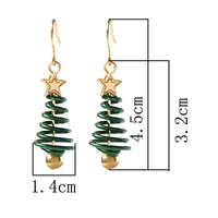 Star Christmas Tree Stud Earrings for Women and Girls - Twist Design Jewelry - Not Bad Gifts