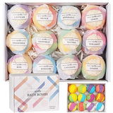 Bath Bombs Gift Set 12 Handmade Fizzies For Women Perfect For Bubble Spa Bath Essential And Fragrance Oils - Not Bad Gifts