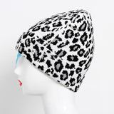 Winter Leopard Hats for Woman Knitted Skullies Crochet keep Ear Warm Girls Hat Sexy Female Beanie Hat Ladies Casual Cap - Not Bad Gifts