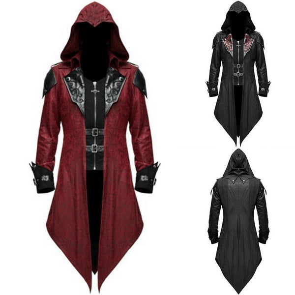 Mens Medieval Retro Jacket Gothic Swallowtail Frock Coat Tuxedo Halloween Formal Costume 2020 Mens Steampunk Cosplay Oversize Coats S-5XL - Not Bad Gifts