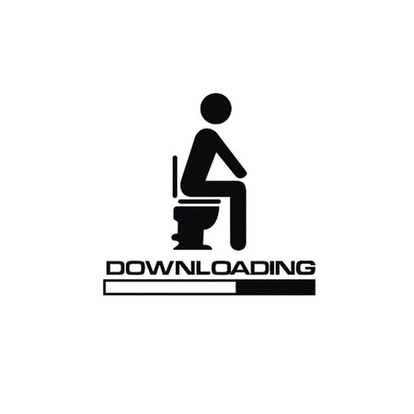 DOWNLOADING - Individual Toilet Sticker Bathroom Decoration Accessories - Not Bad Gifts