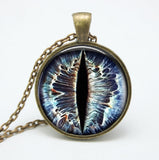Dragon Eye Pendant - Jewelry Glass Dome Necklaces For Men or Women - Not Bad Gifts