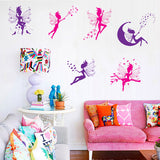Six Little fairy wall stickers for kids girls room home decor art mural decals decorations - Not Bad Gifts