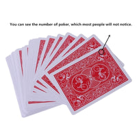 New Secret Marked Poker Cards See Through Playing Cards Magic Toys simple but unexpected Magic Tricks - Not Bad Gifts