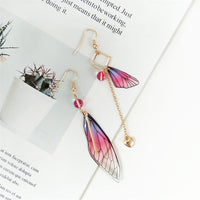 Beautiful Fairy Tale Butterfly Wing Earring Asymmetric Dangle Earrings Fashion Accessories - Not Bad Gifts