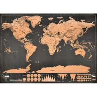Deluxe Erase World Travel Map Scratch Off World Map Travel Scratch For Map 82.5x59.4cm Room Home Office Decoration Wall Stickers - Not Bad Gifts