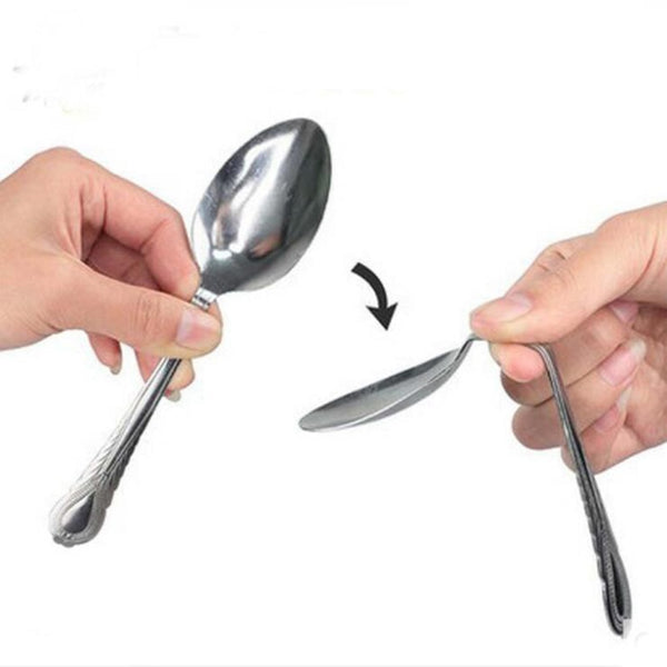 Spoon Bending Magic Tricks - Street Performer Close Up Magic Tricks Family Kids Adult Magic Joke - Not Bad Gifts