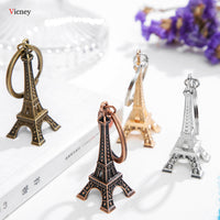 Eiffel Tower Key Chain Key Organizer Antique Bronze and Silver Color Keychain - Not Bad Gifts