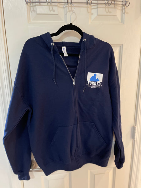 Ford K9 Zip up Hoodie (Blue or Black)