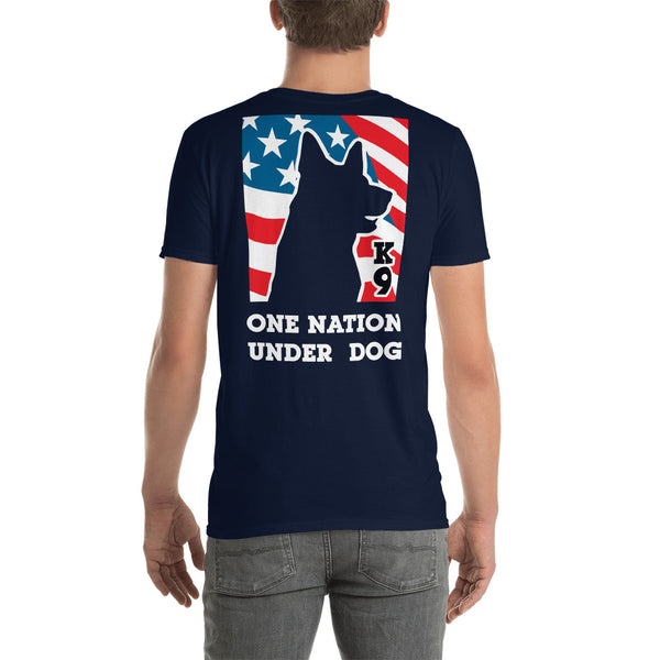 ONE NATION UNDER DOG *front and back print* short-sleeve unisex t-shirt