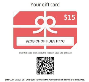 E-Gift Card for Online Shopping [7 options]