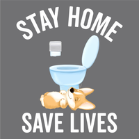 Stay Home Save Lives American Apparel Tri-Blend Track T-shirt