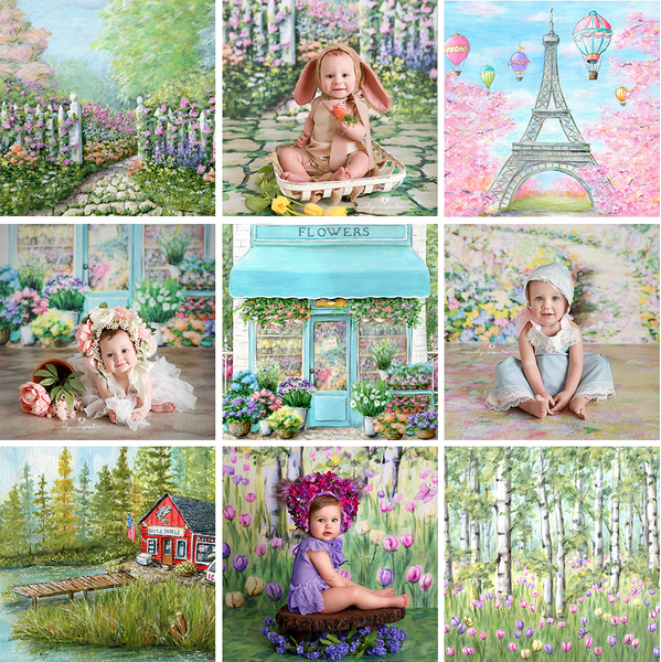 Spring Photography Backdrops and Photo Props