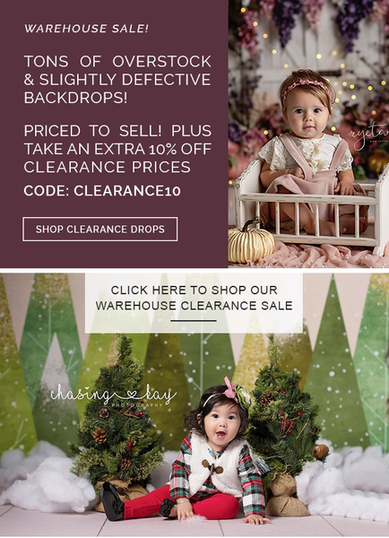 Clearance photography backdrops and floors - vinyl, poly paper, canvas and fabric