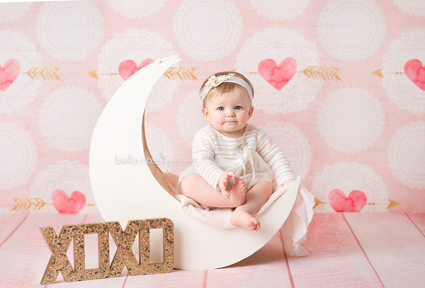 Valentine's Day Photography Backdrops Backgrounds Cupid's Arrow
