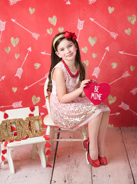 Valentine's Day Photography Backdrop Photo Props So Loved