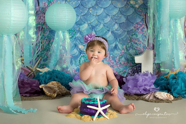 Under the Sea Mermaid Photography Backdrop Background Summer
