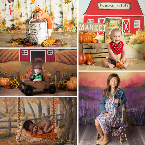 Fall Photography Backdrops Autumn Photography Backgrounds Baby Photo Props Newborn