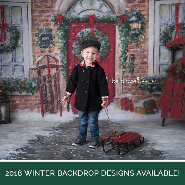 Christmas Photo Backdrop Winter Photography Backdrop Background