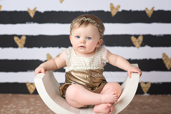Black White Gold Valentine's Day Photography backdrop