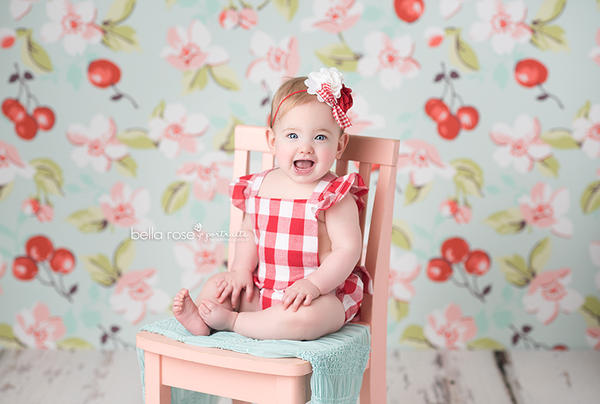 Cherry Photography Backdrop Vinyl Summer Photography Backdrop Fabric Canvas
