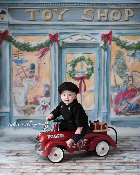 Christmas Toy Shop Photography Backdrop Christmas Photography Props Backgrounds