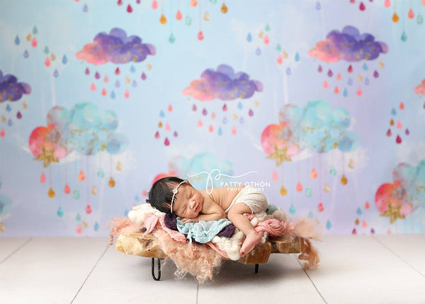 Colorful Clouds Photography Backdrop Newborn Photo Props