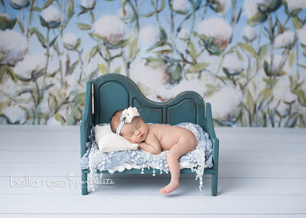 Cotton Field Painted Photography Backdrop Newborn Photography Props