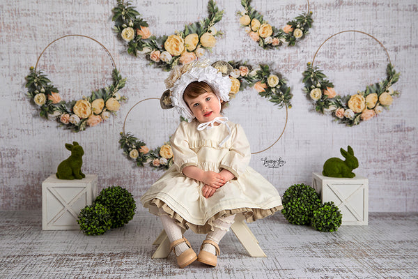 Spring Floral Hoops Photography Backdrop Background Easter Photo Props