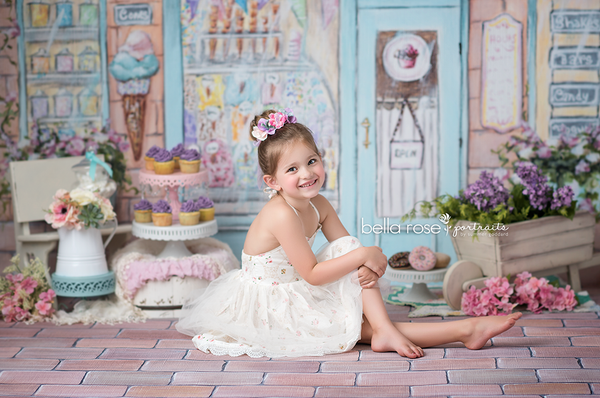 Ice Cream Shoppe Photography Backdrop for Summer Mini Sessions
