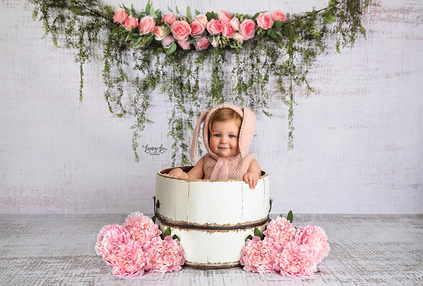 Rose Garland Photography Backdrop Easter Photo Props for Baby