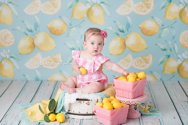 Lemons Photography Backdrop Summer Background Photo Props