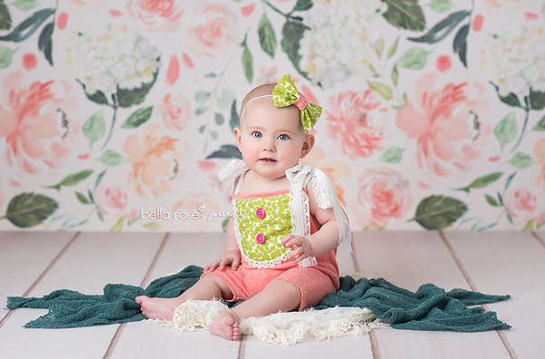 Spring Photography Backdrop Vinyl Canvas Girls Photo Props Baby
