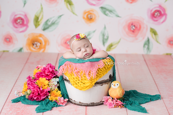 Floral photograph backdrop background girls photo props baby