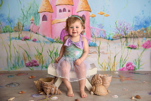 Mermaid Photography Backdrop Under the Sea Photo Background
